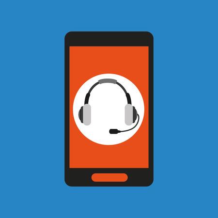global headset social network vector illustration