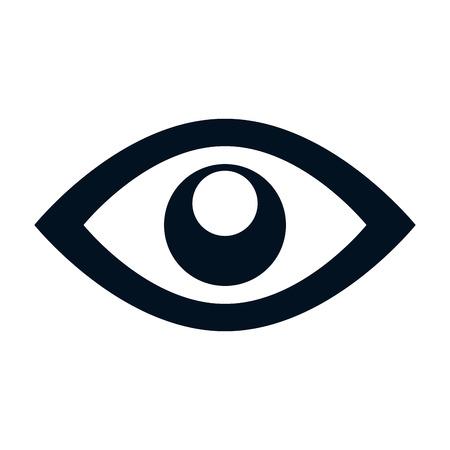 Illustration pour eye symbol isolated icon vector illustration design - image libre de droit