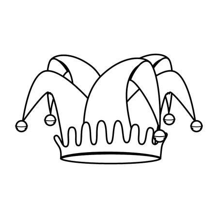 Illustration for fools hat isolated icon vector illustration design - Royalty Free Image