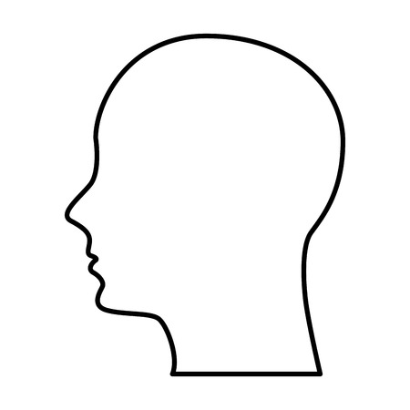 Illustration for male profile silhouette icon vector illustration design - Royalty Free Image