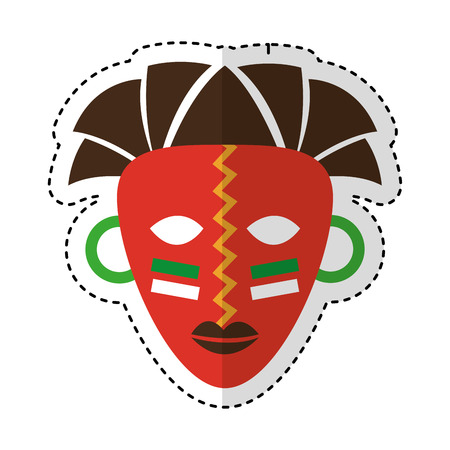 Illustration pour african mask ethnicity icon vector illustration design - image libre de droit