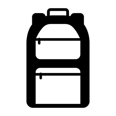 Illustration pour camping bag travel icon vector illustration design - image libre de droit