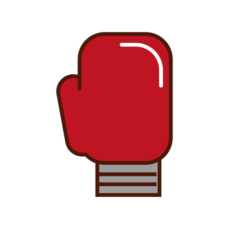brightly Boxin glove cartoon vector graphic design