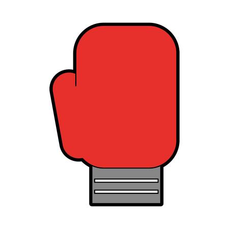 cute Boxin glove cartoon vector graphic design