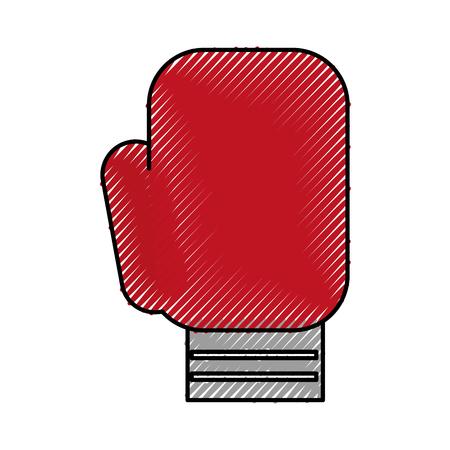 scribble Boxin glove cartoon vector graphic design