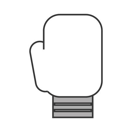 cute grey Boxin glove cartoon vector graphic design