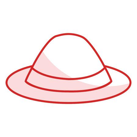 Illustration pour A gentleman hat isolated icon vector illustration design. - image libre de droit