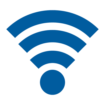 Ilustración de wifi signal isolated icon vector illustration design - Imagen libre de derechos
