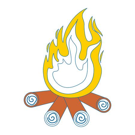 bonfire icon over white background vector illustration