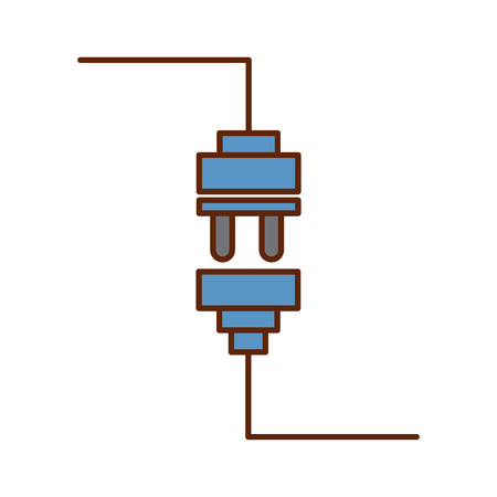 wire cable connector icon vector illustration design