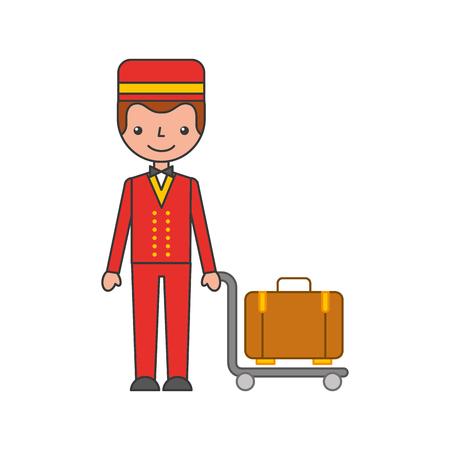 Illustration pour boybell avatar character icon vector illustration design - image libre de droit