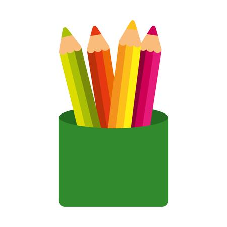 Ilustración de school colors isolated icon vector illustration design - Imagen libre de derechos