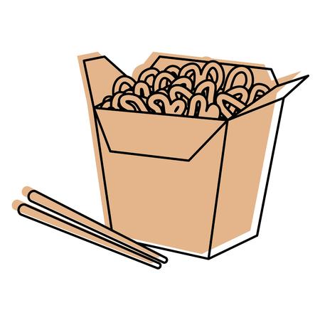 noddle box icon over white background vector illustration