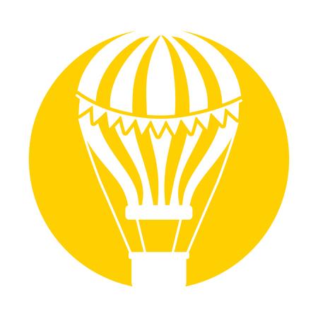 carnival balloon air flying vector illustration design