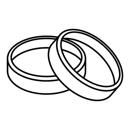 Photo pour wedding rings icon over white background vector illustration - image libre de droit