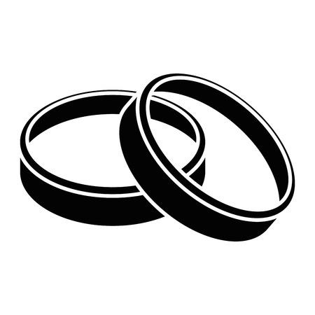 Ilustración de wedding rings icon over white background vector illustration - Imagen libre de derechos