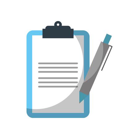 Illustration pour clipboard  checklist with write pen work element vector illustration - image libre de droit