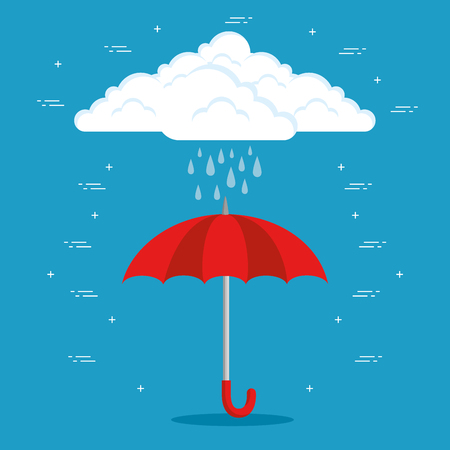 Ilustración de rainy weather forecast vector illustration graphic design - Imagen libre de derechos