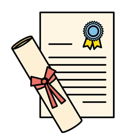 Illustration pour graduation diploma isolated icon vector illustration design - image libre de droit