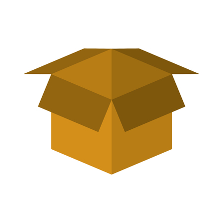 Open cardboard box safety concept icon