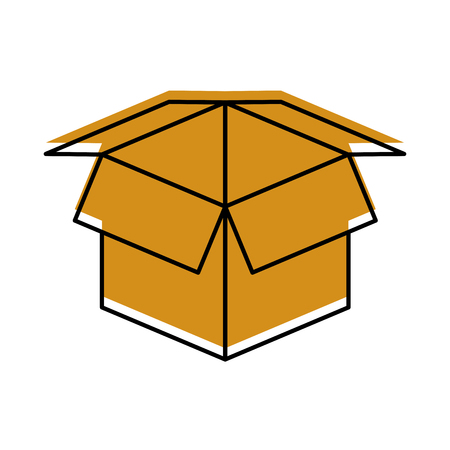open cardboard box safety concept icon vector illustration