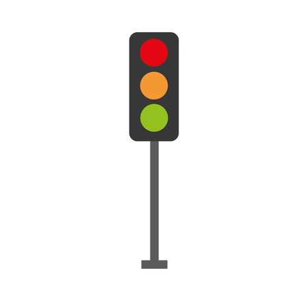 Illustration for traffic lights electric equipment control vector illustration - Royalty Free Image