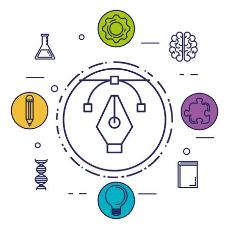 brain storming set icons vector illustration design