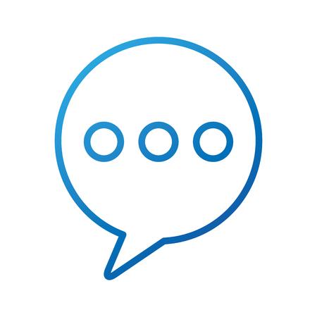 Illustration pour bubble speak message conversation chat web vector illustration - image libre de droit
