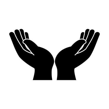 Illustration pour hands human protection icon vector illustration design - image libre de droit