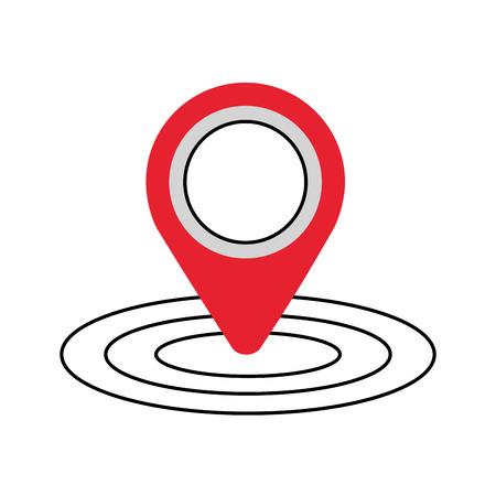 Illustration pour pin map gps location sign navigation vector illustration - image libre de droit