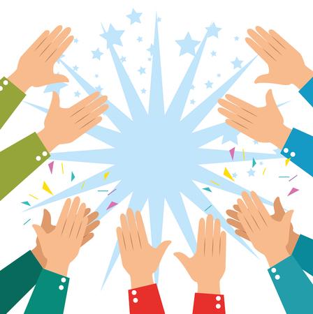 Ilustración de human hands clapping ovation applaud hands vector illustration graphic design - Imagen libre de derechos