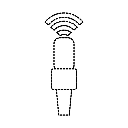 wifi microphone podcast connection electrical vector illustration