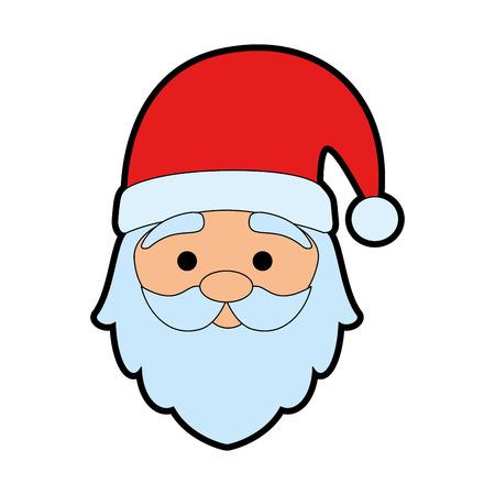 Illustration for cute santa claus head character vector illustration design - Royalty Free Image