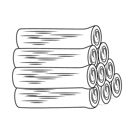 pile wooden trunks icon vector illustration design