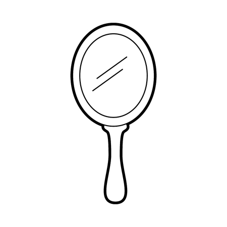 Illustration for princess mirror glass handle accessory vector illustration - Royalty Free Image