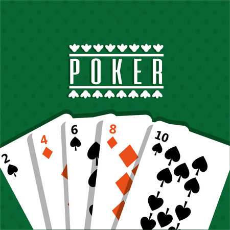 poker design cards and game concept casino vector illustration