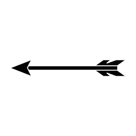 Illustration pour indian arrow isolated icon vector illustration design - image libre de droit