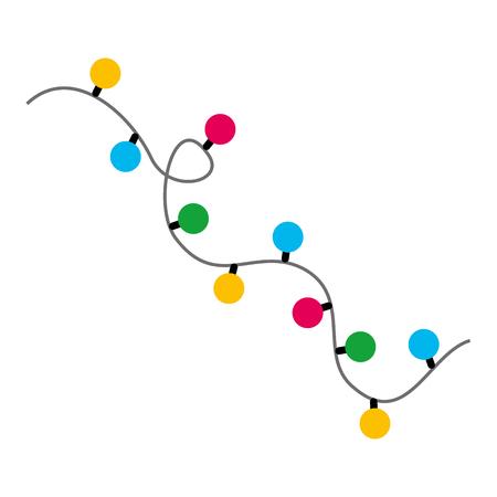 Illustration for Garlands christmas decorations lights effects design vector illustration - Royalty Free Image
