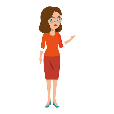 Illustration pour beautiful teacher female avatar character vector illustration design - image libre de droit
