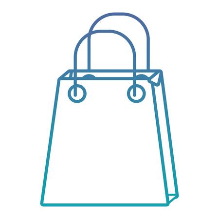 Illustration for christmas paper bag gift shopping season vector illustration - Royalty Free Image