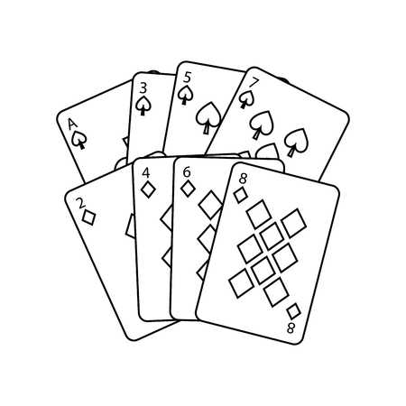 poker cards casino deck gambling design vector illustration