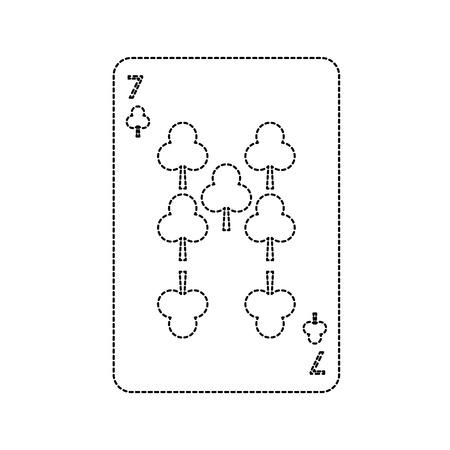 poker playing club card casino gambling icon vector illustration