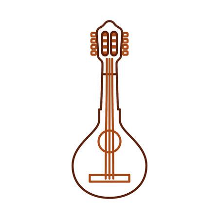 mandolin jazz instrument musical festival celebration vector illustration