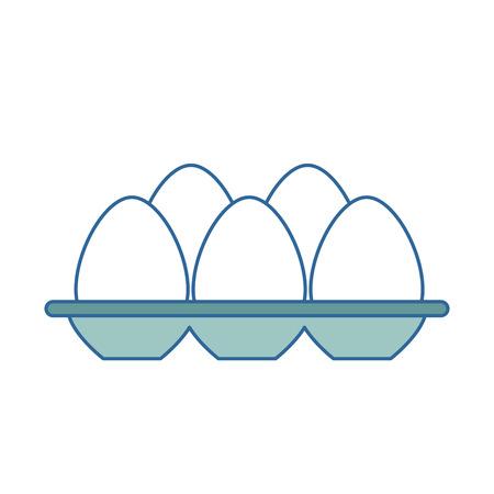 Ilustración de eggs carton isolated icon vector illustration design - Imagen libre de derechos