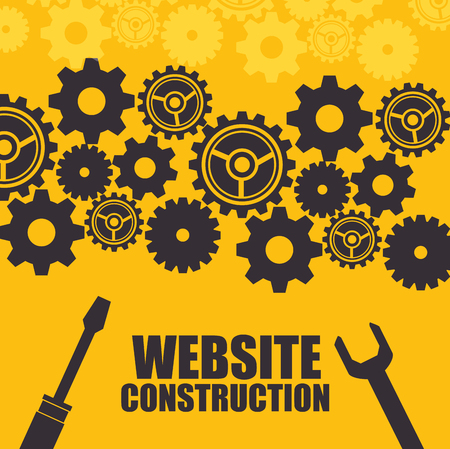 Illustration for website under construction background vector illustration graphic design - Royalty Free Image