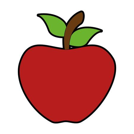 Ilustración de apple fresh isoloated icon vector illustration design - Imagen libre de derechos