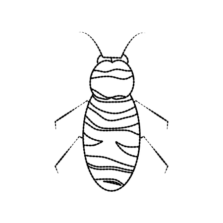bee icon honey flying insect animal garden sticker