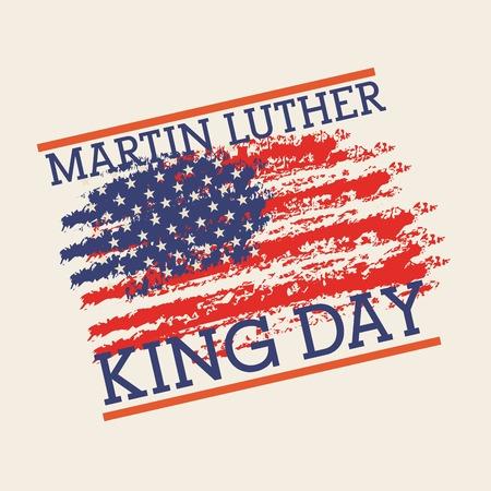 Illustration pour Martin luther king poster with colors flag of US design. - image libre de droit