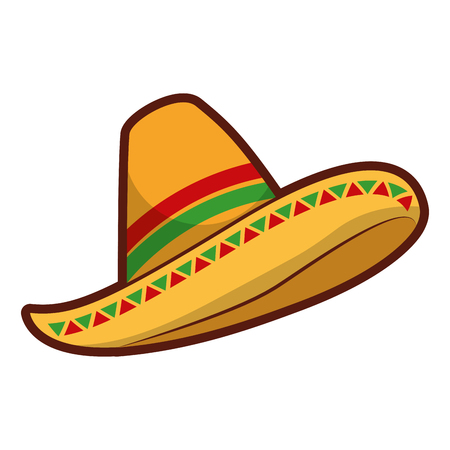 Illustration for mexican hat isolated icon vector illustration design - Royalty Free Image