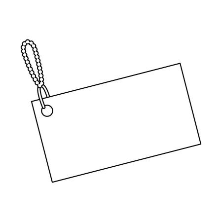 Shopping tag isolated icon illustration design.